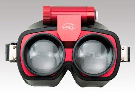 フレンツェル眼鏡の装着写真です